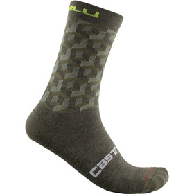 Castelli Cubi 18 Chaussettes, military green